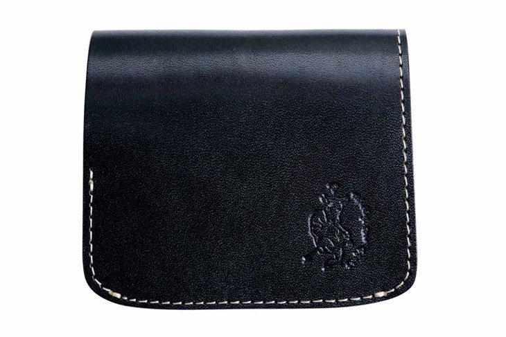 小さい財布 小さいふ。栃木レザー定番BASICシリーズ「コンチャ ブラック」黒