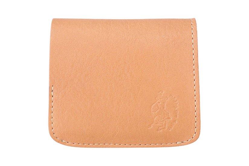 小さい財布 小さいふ。栃木レザーOilヌメシリーズ「コンチャ オイルナチュラル」ヌメ