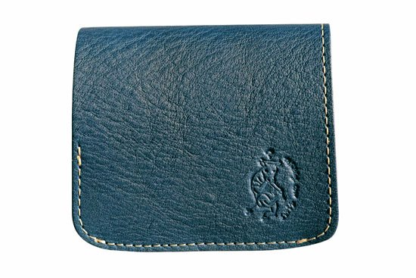 小さい財布 小さいふ。栃木レザーOilヌメシリーズ「コンチャ オイルネイビー」紺