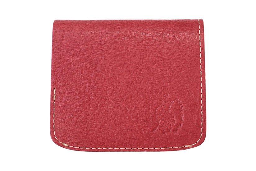 小さい財布 小さいふ。栃木レザーOilヌメシリーズ「コンチャ オイルレッド」赤