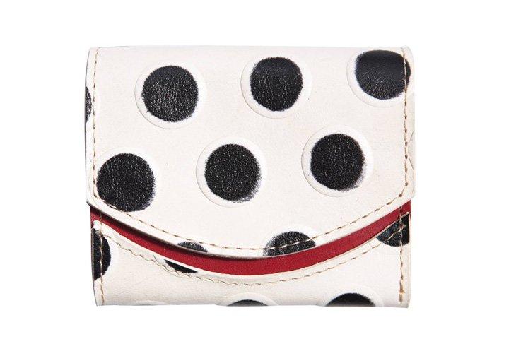 小さい財布 小さいふ。イタリアンレザー+アートシリーズ「ペケーニョ しろてんとう虫」白×黒