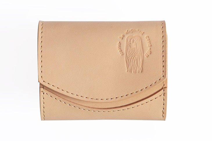 小さい財布 小さいふ。栃木レザー素-su-シリーズ「ペケーニョ アマビエ」素上げヌメ革