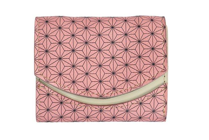 小さい財布 小さいふ。日本の伝統紋様シリーズ「ペケーニョ 麻の葉 桜 Sakura」