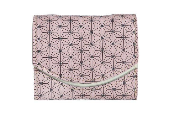小さい財布 小さいふ。日本の伝統紋様シリーズ「ペケーニョ 麻の葉 スミレ Sumire」