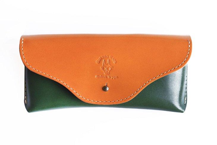 革のメガネケース 定番カラー キャメル