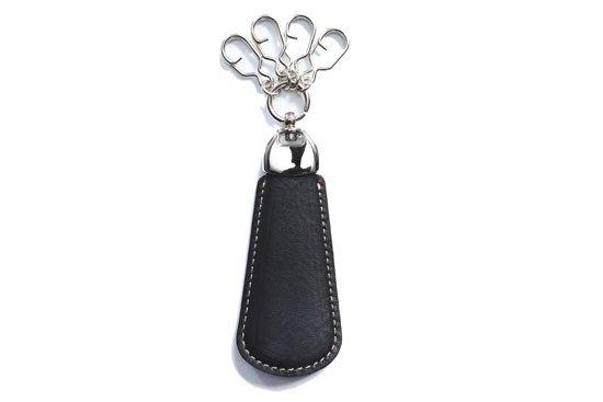 革のシューホーン イタリア ヴォルピ社 オイルレザーシリーズ ブラック