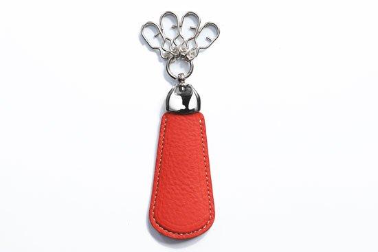 革のシューホーン イタリア ヴォルピ社 オイルレザーシリーズ レッド