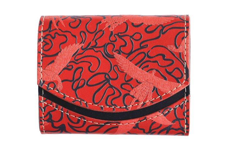 小さい財布 小さいふ。偉人シリーズ 「 ペケーニョ 手塚治虫 「火の鳥」Life -生命-」栃木レザー赤