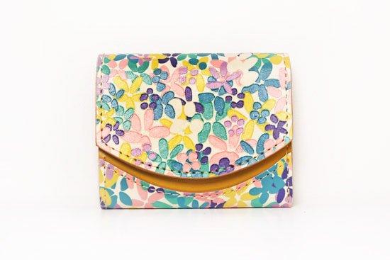 ミニ財布  今日の小さいふシリーズ「ペケーニョ イロトリドリの花<  A  >20年9月30日」