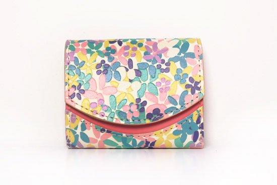 ミニ財布  今日の小さいふシリーズ「ペケーニョ イロトリドリの花<  B  >20年9月30日」
