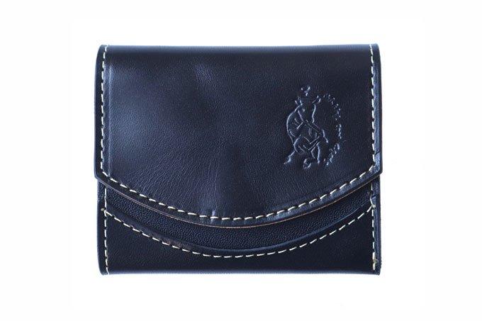 小さい財布 小さいふ。東急ハンズコラボ COMACHIシリーズ「ペケーニョ COMAブラック」栃木レザー黒