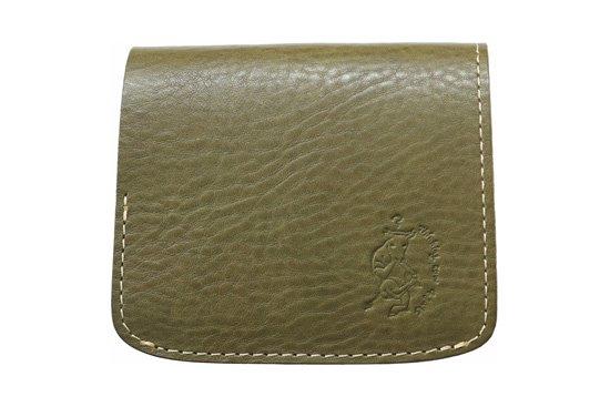 【限定】小さい財布 小さいふ。イタリアンレザーシリーズ「コンチャ  VOLPI ヴォルピ社オイルレザー オリーブ)」olive
