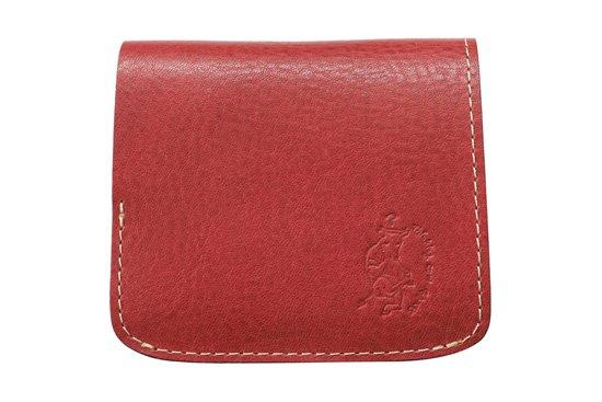 【限定】小さい財布 小さいふ。イタリアンレザーシリーズ「コンチャ  VOLPI ヴォルピ社オイルレザー チェリーブラウン」