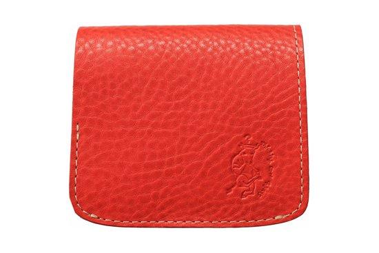 【限定】小さい財布 小さいふ。イタリアンレザーシリーズ「コンチャ  VOLPI ヴォルピ社 オイルレザー レッド」赤