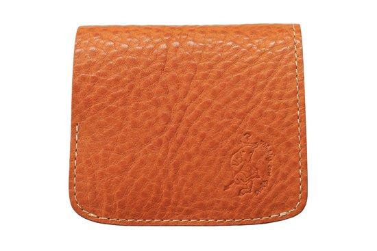 【限定】小さい財布 小さいふ。イタリアンレザーシリーズ「コンチャ  VOLPI ヴォルピ社 オイルレザー キャメル×カーキ」