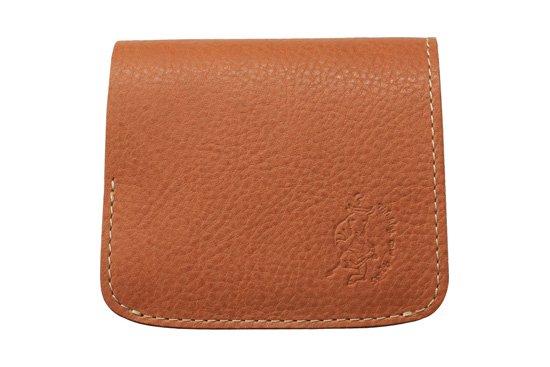 【限定】小さい財布 小さいふ。イタリアンレザーシリーズ「コンチャ  VOLPI ヴォルピ社 オイルレザー ベージュ×ブラック」