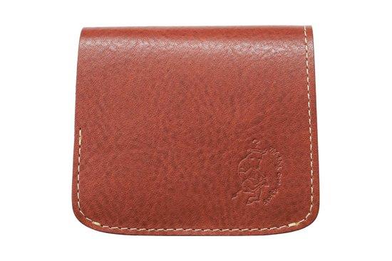 【限定】小さい財布 小さいふ。イタリアンレザーシリーズ「コンチャ  VOLPI ヴォルピ社 オイルレザー レンガ」煉瓦×カーキ