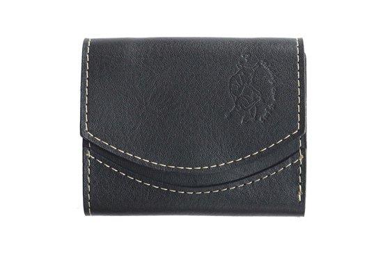 【限定】小さい財布 小さいふ。イタリアンレザーシリーズ「ペケーニョ  VOLPI ヴォルピ社 オイルレザー ブラック」黒