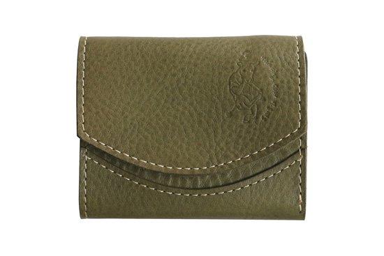 【限定】小さい財布 小さいふ。イタリアンレザーシリーズ「ペケーニョ  VOLPI ヴォルピ社 オイルレザー オリーブ」olive
