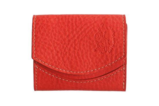 【限定】小さい財布 小さいふ。イタリアンレザーシリーズ「ペケーニョ  VOLPI ヴォルピ社 オイルレザー レッド」赤