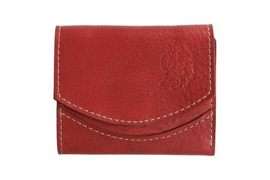 【限定】小さい財布 小さいふ。イタリアンレザーシリーズ「ペケーニョ  VOLPI ヴォルピ社 オイルレザー チェリーブラウン」