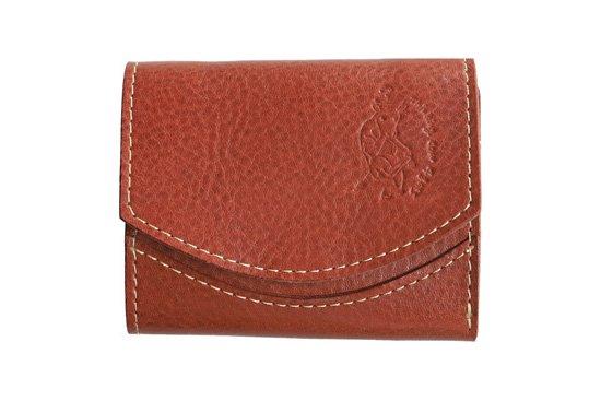 【限定】小さい財布 小さいふ。イタリアンレザーシリーズ「ペケーニョ  VOLPI ヴォルピ社 オイルレザー レンガ」煉瓦