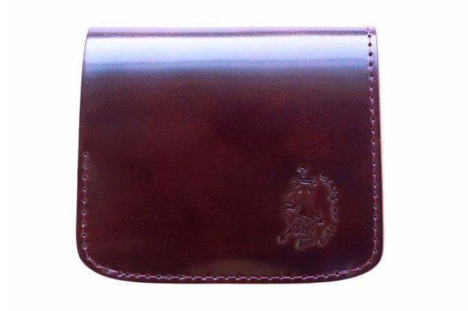 【限定】小さいふ。オイルコードバン「コンチャ OIL CORDVAN バーガンディ」JAPAN MADE  新喜皮革謹製