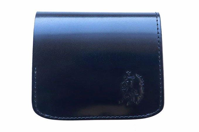 【限定】小さいふ。オイルコードバン「コンチャ OIL CORDVAN ブラック」JAPAN MADE  新喜皮革謹製