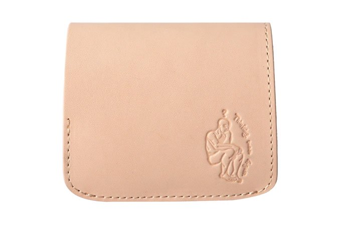 小さい財布 小さいふ。栃木レザー素-su-シリーズ「コンチャ ロダン 考える人」素上げヌメ革