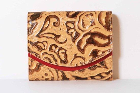 ミニ財布  今日の小さいふシリーズ「ペケーニョ latte macchiato<  A  >21年1月7日」