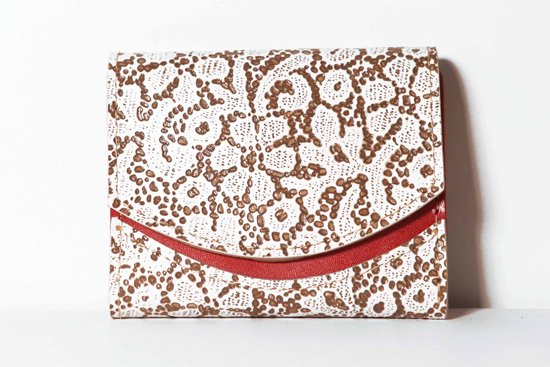 ミニ財布  今日の小さいふシリーズ「ペケーニョ フラワーショコラ<  A  >21年1月17日」
