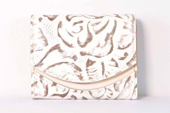 ミニ財布  今日の小さいふシリーズ「ペケーニョ シルバーローズ<  B  >21年2月4日」
