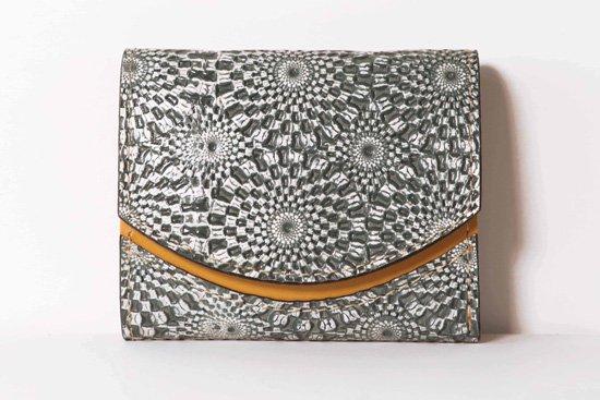 ミニ財布  今日の小さいふシリーズ「ペケーニョ 万華鏡モノクローム<  B  >21年2月10日」