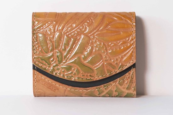 ミニ財布  今日の小さいふシリーズ「ペケーニョ ブッソウゲ< B >21年2月16日」