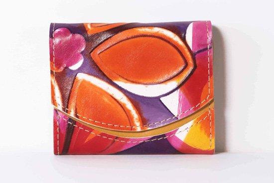 ミニ財布  今日の小さいふシリーズ「ペケーニョ オレンジカモミールティー< A >21年2月25日」