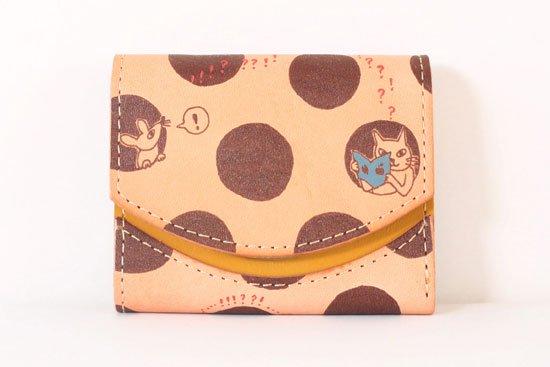 ミニ財布  今日の小さいふシリーズ「ペケーニョ 穴ぼこチーズ< A >21年3月6日」