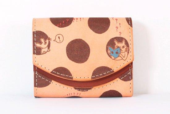 ミニ財布  今日の小さいふシリーズ「ペケーニョ 穴ぼこチーズ< B >21年3月6日」