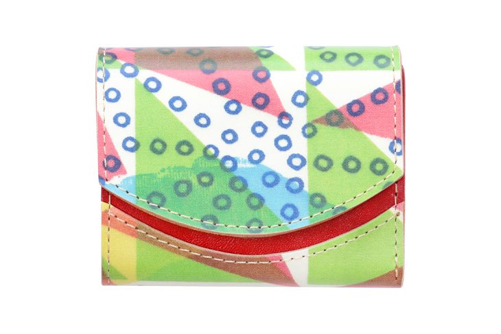 小さい財布 小さいふ。アートシリーズ「ペケーニョ ケイコロール 疋田の麻型とウロコ」