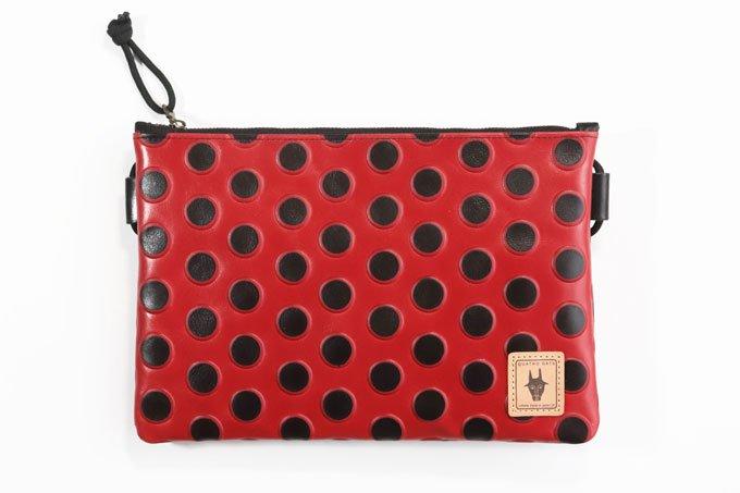 小さいかばん/オールレザーシリーズ/ Ladybird  赤てんとう虫 /イタリアミラノレザー