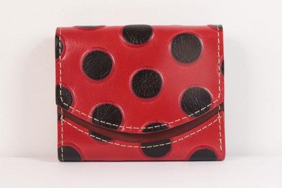 ミニ財布  世界でひとつだけシリーズ  小さいふ「ペケーニョ てんとう虫」#34