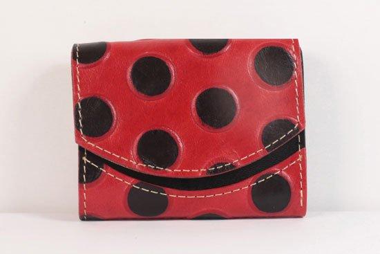 ミニ財布  世界でひとつだけシリーズ  小さいふ「ペケーニョ てんとう虫」#38