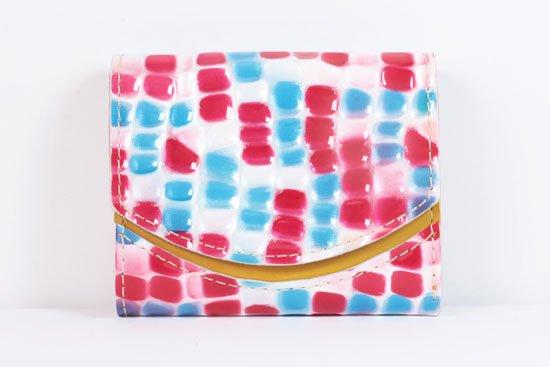 ミニ財布  世界でひとつだけシリーズ  小さいふ「ペケーニョ 母の日 ステンドグラス」#10