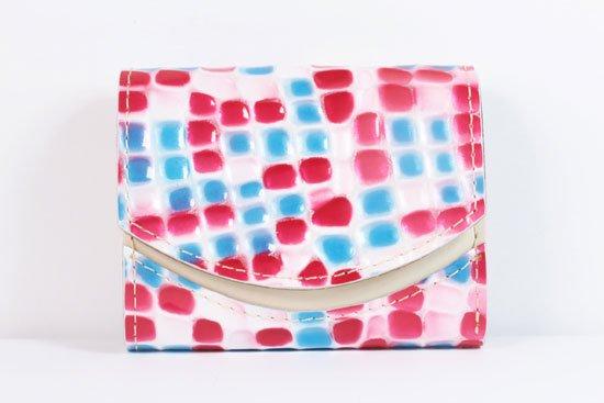 ミニ財布  世界でひとつだけシリーズ  小さいふ「ペケーニョ 母の日 ステンドグラス」#15