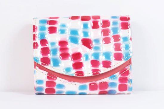 ミニ財布  世界でひとつだけシリーズ  小さいふ「ペケーニョ 母の日 ステンドグラス」#16