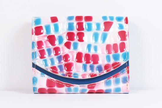 ミニ財布  世界でひとつだけシリーズ  小さいふ「ペケーニョ 母の日 ステンドグラス」#17