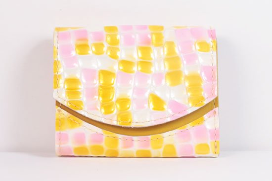 ミニ財布  世界でひとつだけシリーズ  小さいふ「ペケーニョ 母の日 ステンドグラス」#26