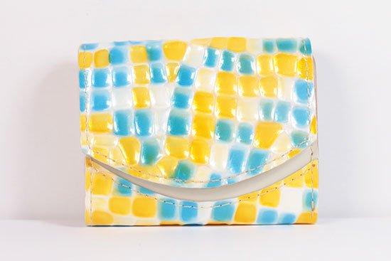 ミニ財布  世界でひとつだけシリーズ  小さいふ「ペケーニョ 母の日 ステンドグラス」#28