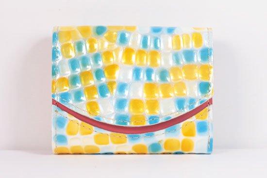 ミニ財布  世界でひとつだけシリーズ  小さいふ「ペケーニョ 母の日 ステンドグラス」#33
