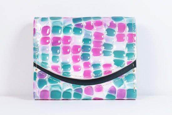 ミニ財布  世界でひとつだけシリーズ  小さいふ「ペケーニョ 母の日 ステンドグラス」#43