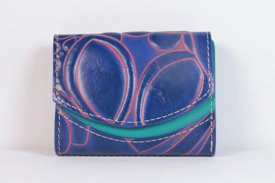 ミニ財布  今日の小さいふシリーズ「ペケーニョ blue bird< A >21年4月30日」